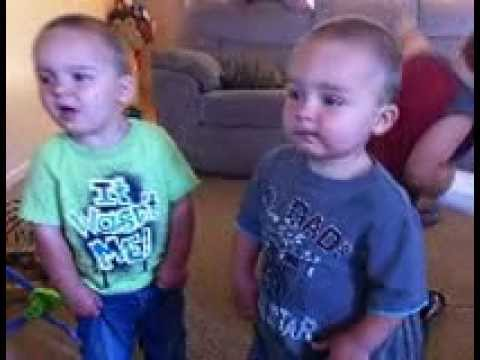 Cute Toddler Twins Singing Creepin' By Eric Church! video