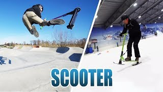 SCOOTER FÜR DEN SCHNEE UMBAUEN | CHILLI SNOWBLADES REVIEW - TEST [DEUTSCH/GERMAN]
