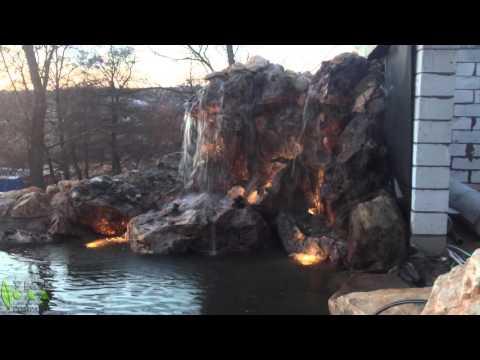 Подсветка водоема своими руками – устройство и практические советы