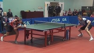 Vasiliy LAKEEV vs Vyacheslav KRIVOSHEEV FINAL Moscow Championships 2014 Table Tennis Table Tennis