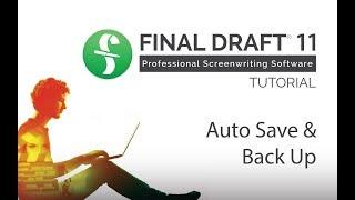 Auto Save and Backup
