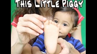 This Little Piggy Nursery Rhyme for Toddlers and Infants | Patty Shukla (with Lyrics)