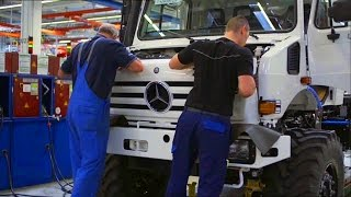How to make UNIMOG. Mercedes plant in Wörth.
