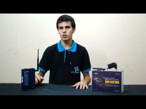 Roteador Wireless AP Router WR254HT 54 Mbps e 2.4Ghz Com Potência de 400mw