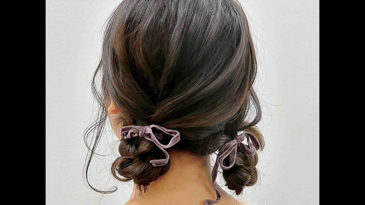 子供 結婚式 髪型 ツインテール