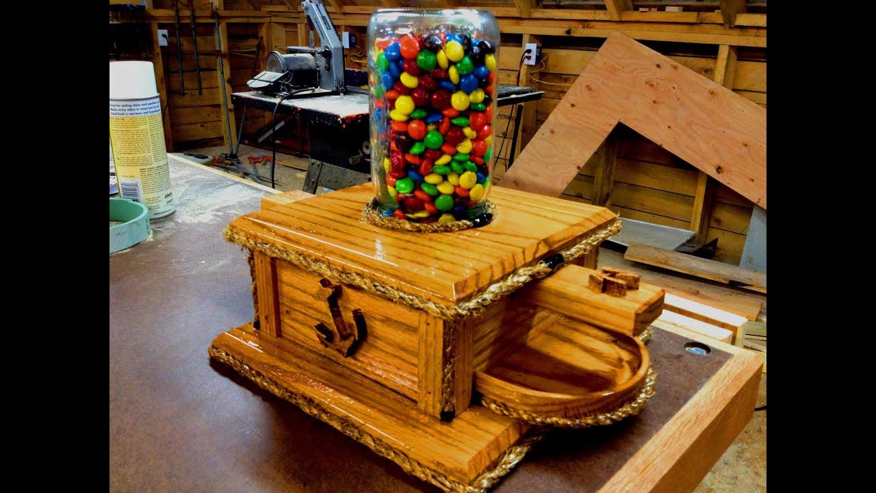 DIY Ball Mason Jar M&M Candy Machine - YouTube