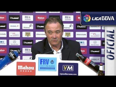 Rueda de Prensa | Press conference de JIM tras el Real Valladolid (1-0) FC Barcelona - HD