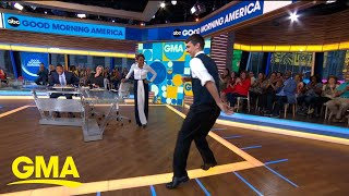 Viral dancing usher from Jonas Brothers concert brings his moves to 'GMA'