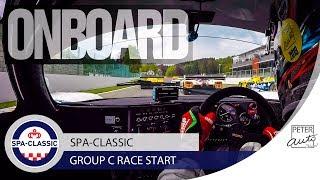IMPRESSIONNANT départ du Group C à Spa-Classic
