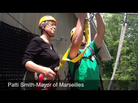 LaSalle Count Tourism Tries Ziplining at Zip Chicago in Marseilles, IL