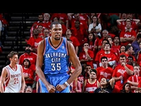 Durant leads OKC past the Rockets & into 2nd round!