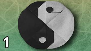 Origami Tai-chi Symbol By Sy Chen (folding Instructions) ~part One~