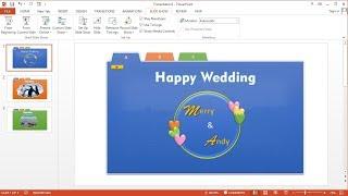 Tutorial PowerPoint 2013 |Cara Membuat Slideshow Tab Menu Animasi Teks, Gambar dan Video PowerPoint