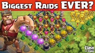 "Clash of Clans ""BIGGEST Raids Ever?"" ♦ HUGE Loot and Trophies in Clash  ♦ CoC ♦"