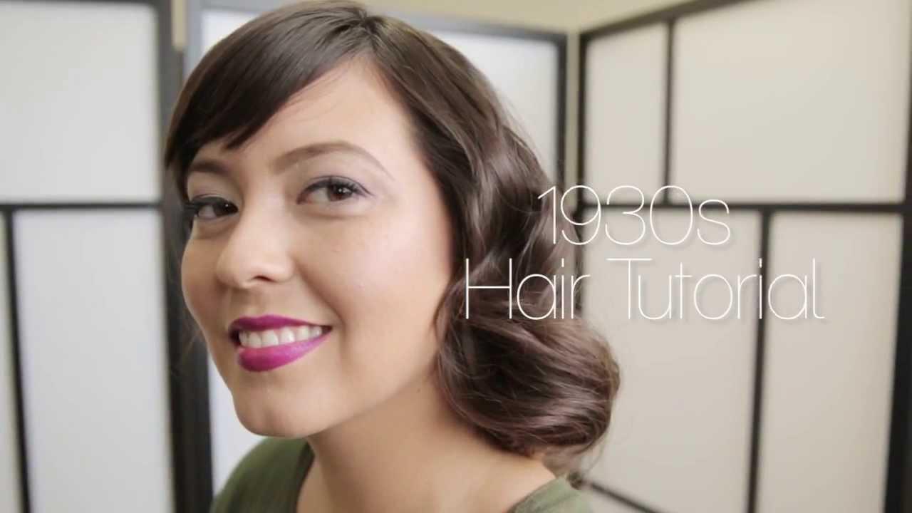 1930s hair tutorial youtube
