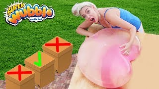 DONT DROP THE GIANT WUBBLE BUBBLE WATER BALLOON ON THE WRONG BOX! 35ft!