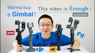 ZHIYUN Smooth 4, DJI OSMO Mobile 2, FEIYU Vimble 2,FreeVision Vilta M, 4 Gimbal Comparison