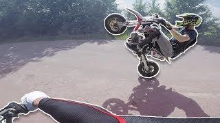 How to Wheelie a PITBIKE!