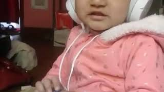 Funny Cute baby saying i love you