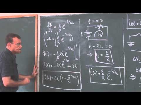 Clase 64: Teoría sobre el proceso de descarga de un circuito simple RC.