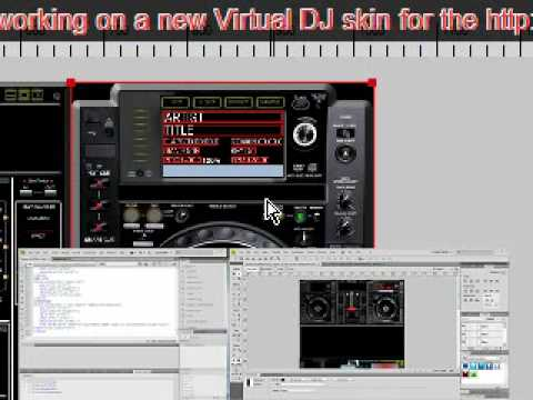 Pioneer CDJ2000 NEW Virtual DJ Skin Creation
