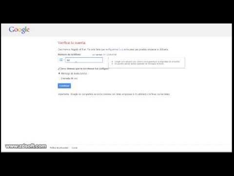 como hacer que te envien el codigo de verificacion de tu cuenta en gmail (loquendo)