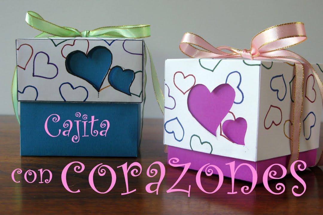 Manualidades para regalar cajita con corazones manualidades para todos youtube - Que regalar a una amiga que se casa ...