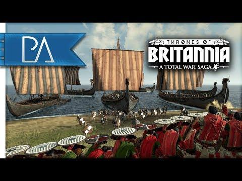 VIKING BEACH LANDING SIEGE - Thrones of Britannia: Total War Saga Gameplay