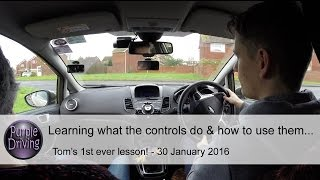 Tom's 1st driving lesson ever! 30 January 2016.