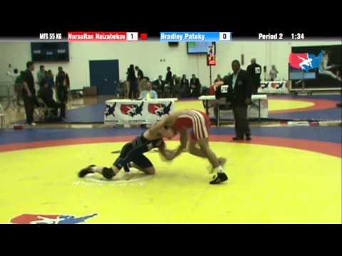 55 KG Consolation R1 - Nursultan Naizabekov KAZ vs Bradley Pataky NLWC