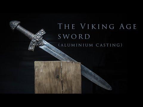 Литье алюминия в песок - меч викинга  ( The Viking Age sword - Aluminium casting )