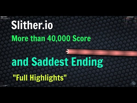 Slither.io Personal high Score (40k+) and probably Worst Ending :(