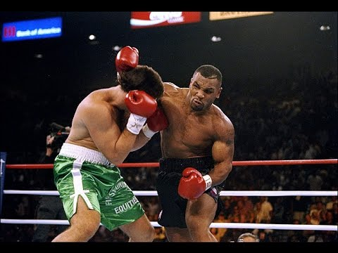 Бокс. Майк Тайсон - Питер МакНили (язык комментариев- русский) Mike Tyson vs Peter McNeeley