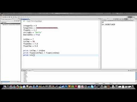 Python 2.7 Tutorial Part 1