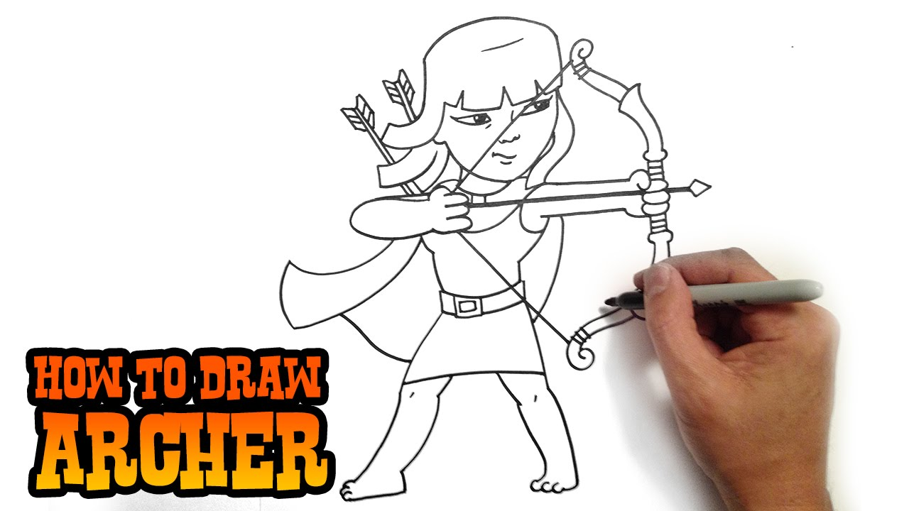 Archer Clash of Clans Drawing How to Draw Archer Clash of