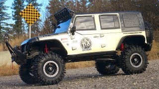 RC ADVENTURES - FiRST TRAiL RUN - CRAGSMAN - HUGE 1/8th Crawler Jeep 4X4 - Traction Hobby