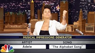 Wheel of Musical Impressions with Alicia Keys by : The Tonight Show Starring Jimmy Fallon