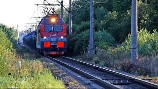 [RZD] 3ES4K-006 with a freight train / 3ЭС4К-006 с наливным поездом