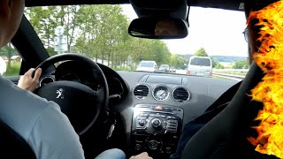 Peugeot RCZ 1.6 THP 200 HP - Test Drive, Acceleration, Top Speed, Exhaust Sound