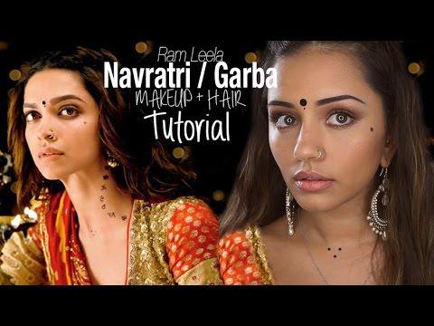 Tutorial | Deepika Padukone Inspired Ram Leela Style Navratri/Garba Makeup | Kaushal Beauty