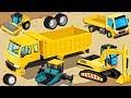 Construction Trucks - Cartoon, Game for Children | Excavator Tricks - Learm Videos for Kids thumbnail