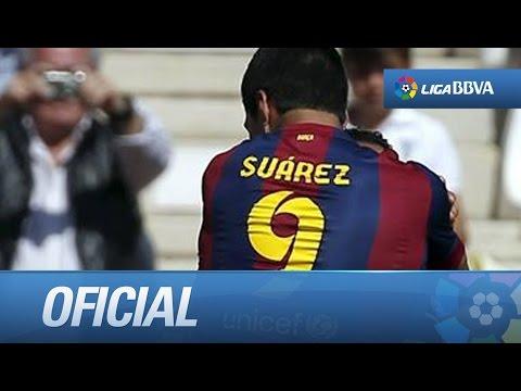 Primer hat-trick de Luis Suárez con el FC Barcelona