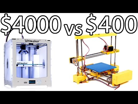 ULTIMAKER 2 vs PRINT-RITE DIY 3D Printer & How to Bed Level - PRINTER PARTY   Make Test Battle