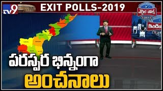 Survey and Exit Poll Results 2019 by various organisations