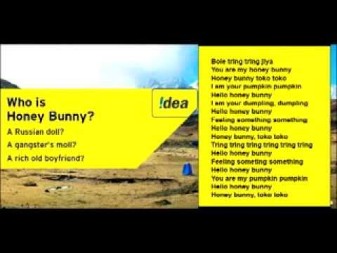 Idea honey bunny song lyrics - Idea theme song