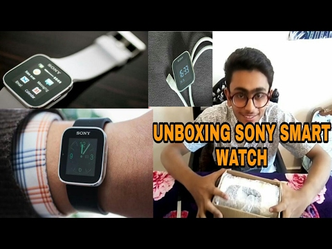 (HINDI,हिन्दी,) UNBOXING SONY SMART WATCH  WORTH 4500 RS