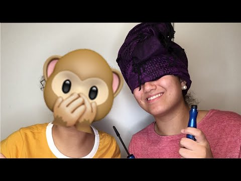 My sister does my makeup...BLINDFOLDED!!! || Beulah Vimalasekaran