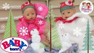 👶🏼👶🏼 BABY BORN TWINS Adventurous Snow Day Routine! ❄️ Day 9 - Baby Born Advent Calendar Series🎄