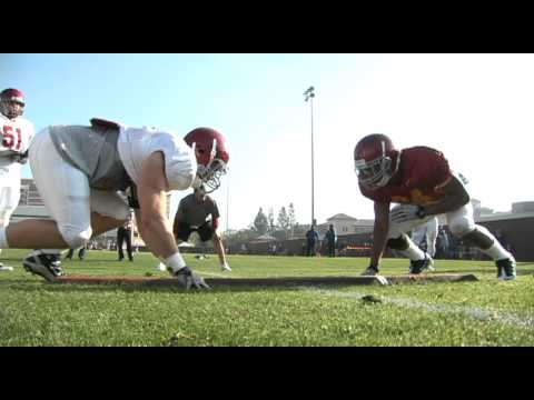 USC Spring Football - Board Drill
