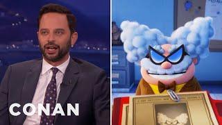 Nick Kroll Compares Professor Poopypants To Trump  - CONAN on TBS